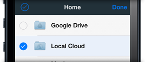 Local Cloud per iOS
